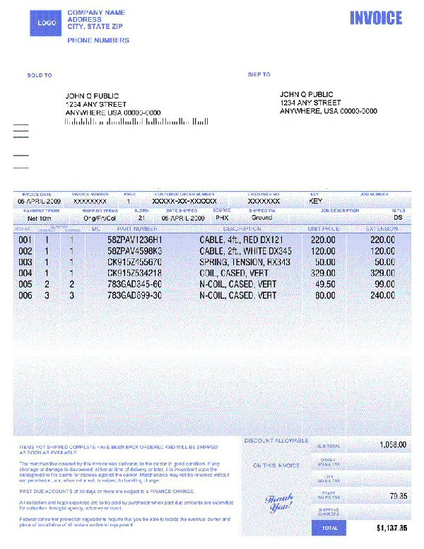 pretty invoice2